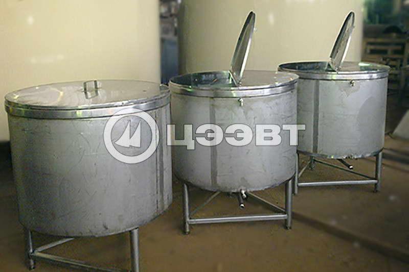 Емкости из нержавеющей стали  для молока. Рис. 2